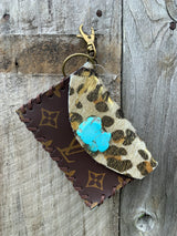 Louis Vuitton Leopard and Turquoise Pouch