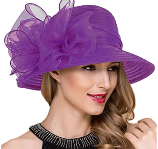 Purple Organza Bucket Hat