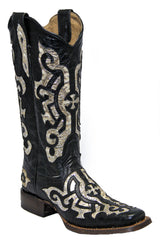 Tanner Mark Black & Gold Boots