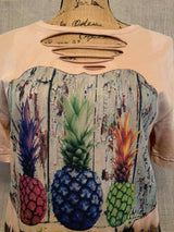 Pineapple Ripped T-Shirt