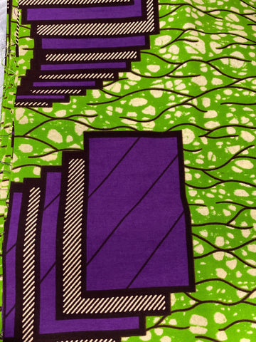 Green/Purple Pattern Head Wrap