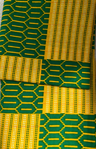 Green/Yellow Tribal Pattern Head Wrap