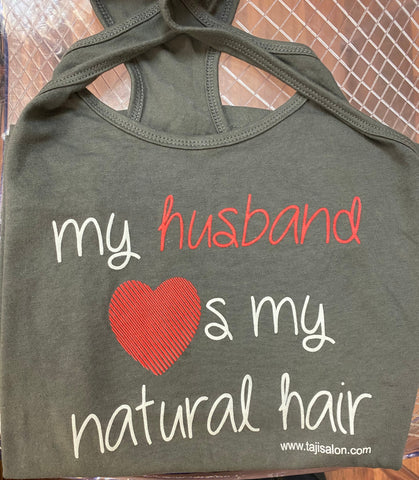 Gray Husband Loves My Natural Hair Tank