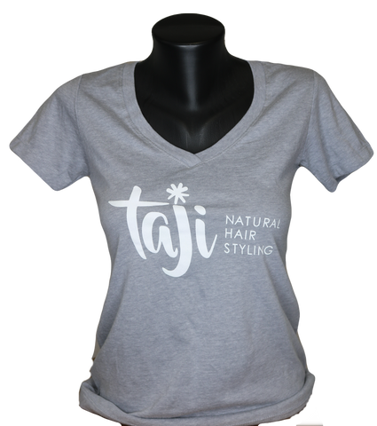 Gray Taji Natural Hair Styling T-Shirt