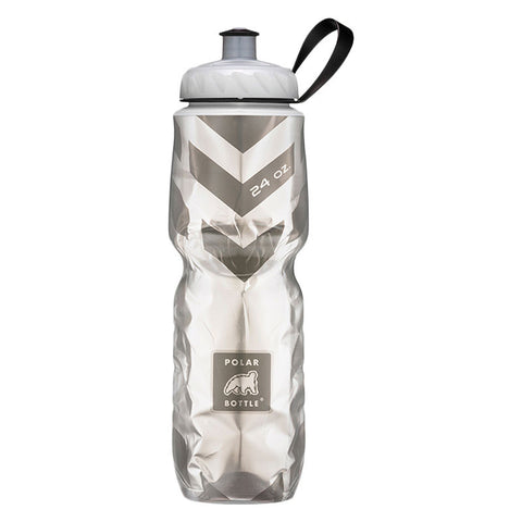 Polar Bottle  -  24 OZ CHEVRON BLACK INSULATED BOTTLE