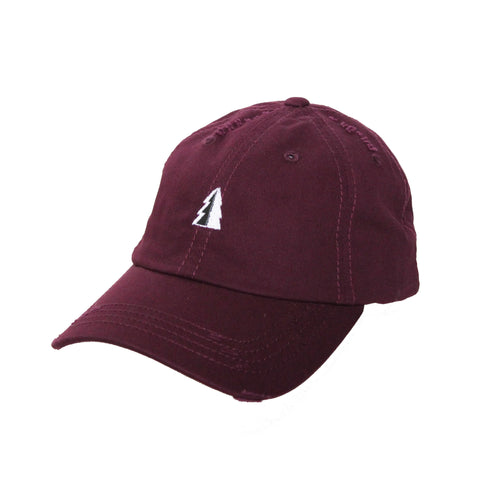 Motion  -  MAROON UNSTRUCTURED TREE LOGO HAT