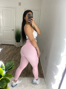 Extreme Scrunch Leggings (Baby Pink)