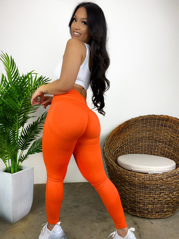 Scrumptious 2.0 Leggings (Bright Orange)