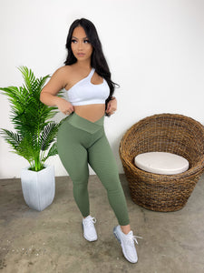 Snatched Leggings (Olive)
