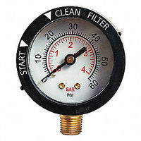 Blue Torrent Bottom Mount Pressure Gauge