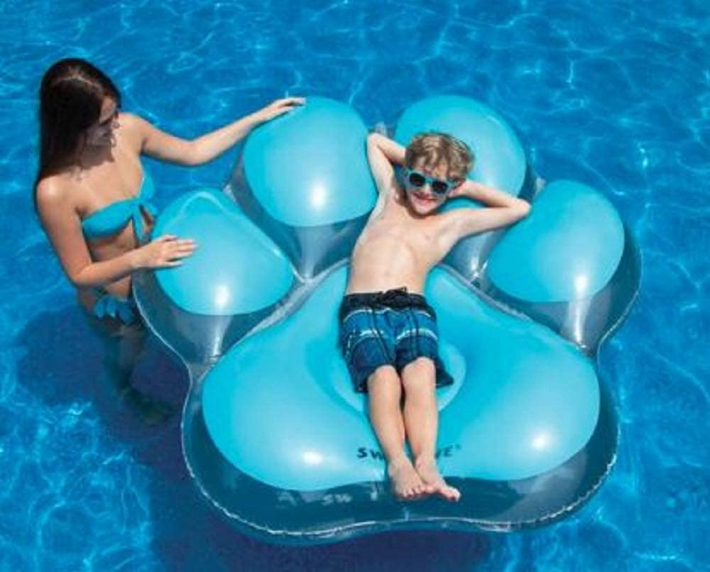 Swimline Inflatable Pawprint Island Pool Float - IN STORE PURCHASE ONLY