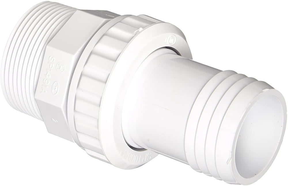 Hayward SP1493 1-1/2-Inch MIP White ABS Quick Disconnect Econo Union with 1-1/2-Inch Hose Barb