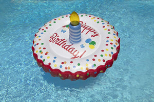 Swimline LED Birthday Cake Island