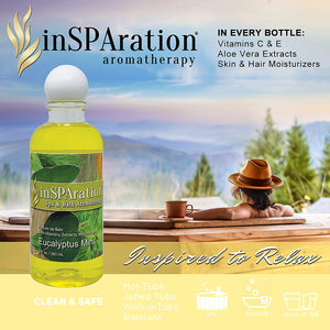 inSPAration Eucalyptus Mint Hot Tub Aroma- 9oz Liquid