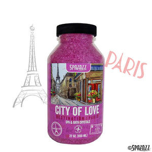 SPAZAZZ Destinations Paris (City of Love) Aromatherapy Crystals -22OZ