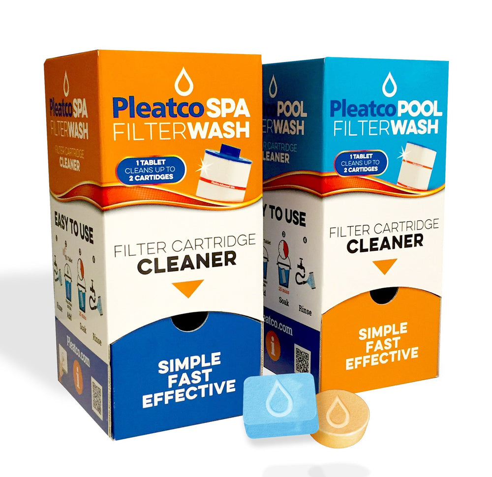Pleatco Filter Wash Filter Cartridge Cleaning Tablets for Pools or Spas