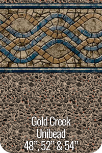"GLI Pool Products Gold Creek Unibead Above Ground Pool Vinyl Liners for 52"" Walls"