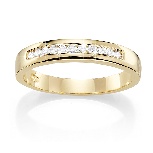 18ct Gold 0.16ct Diamond Wedding Band