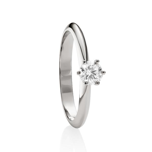 18ct White Gold 0.33ct Diamond Solitaire