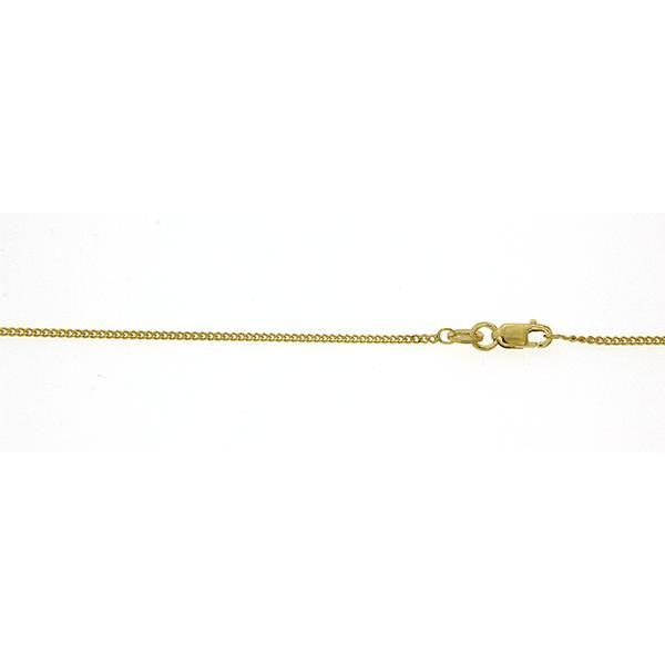 9ct gold 50cm curb link chain