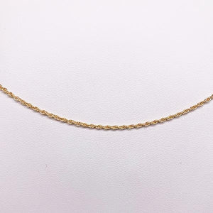 9ct gold 50cm double cable chain