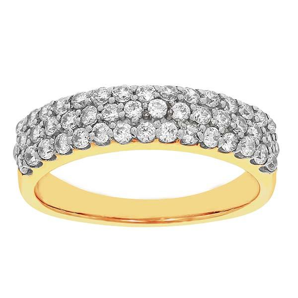 9ct 0.75ct diamond ring