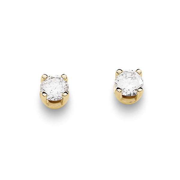 9ct Gold 0.25ct Diamond Studs