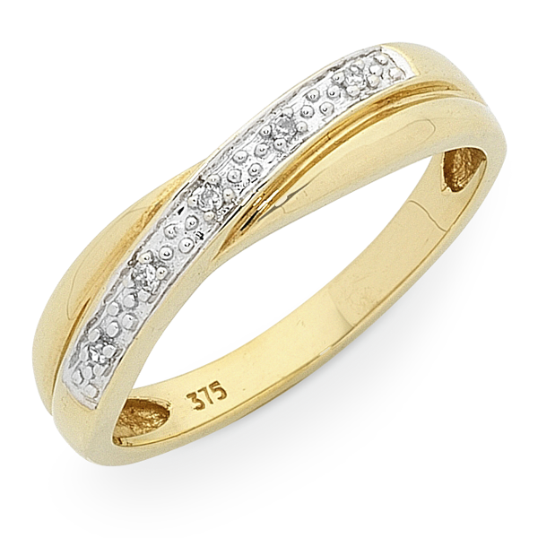 9ct Gold Diamond Set Ring