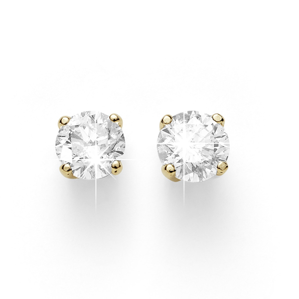 9ct Half Carat Diamond Studs