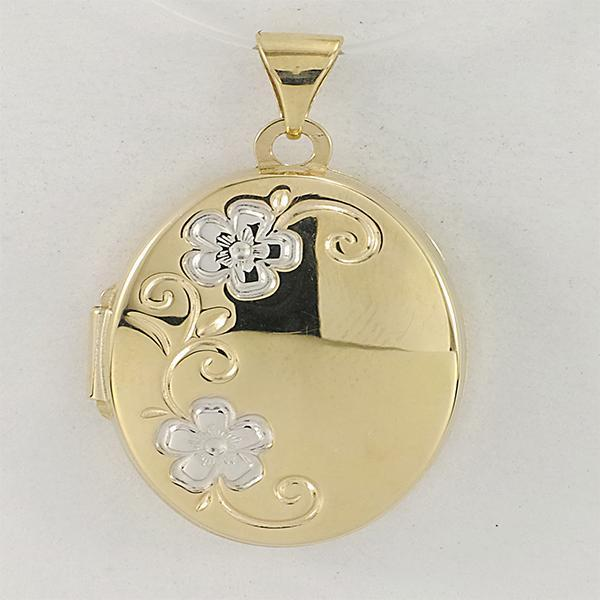 9ct gold 2 tone locket