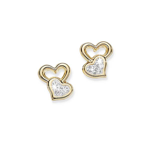 9ct gold bonded silver studs
