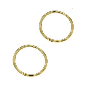 9ct gold medium facet sleeper