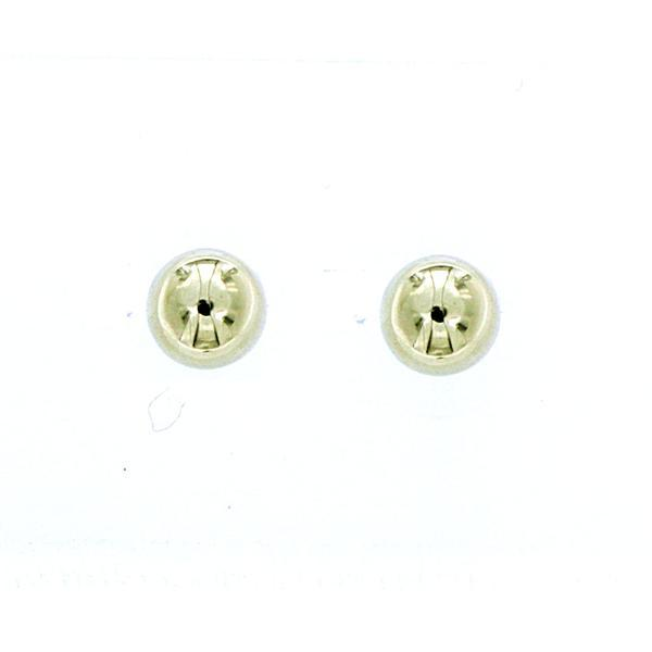 9ct YG 8mm half dome stud earrings