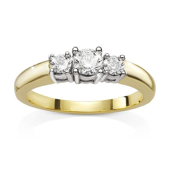 9ct gold 0.20ct+ round brilliant cut diamond ring