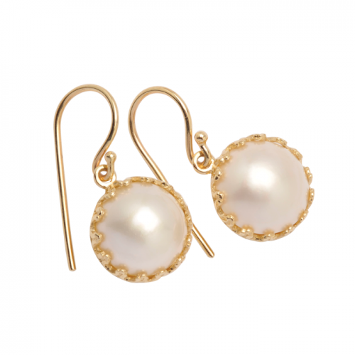9CT Mabe Pearl Earrings