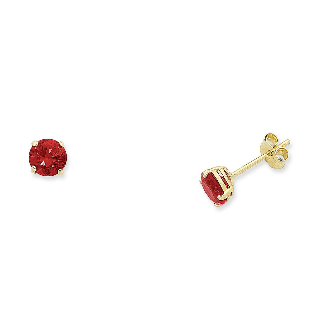 9ct Gold Natural Ruby Studs
