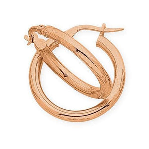9ct Rose Gold Silver Filled Hoop Earrings
