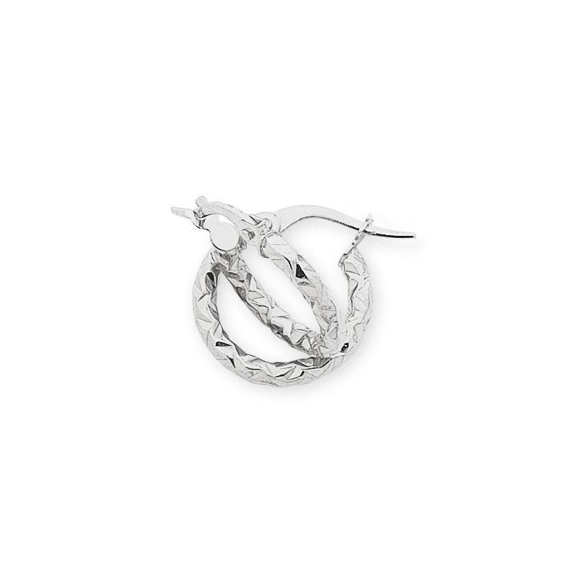 9ct White Gold Silver Filled Hoop Earrings