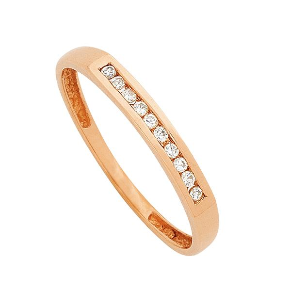 9ct Rose Gold Diamond Channel Set Ring