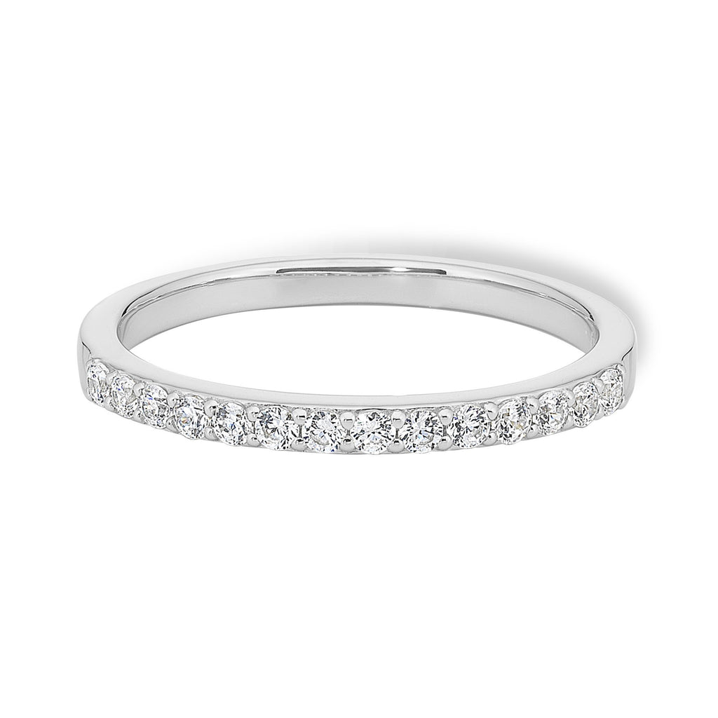 9ct White Gold 1/5ct TDW Diamond Ring