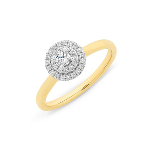 9ct Gold 0.28ct Diamond Ring