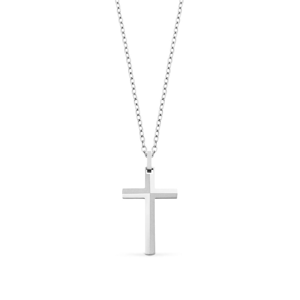 Stainless Steel Cross Pendant with Chain