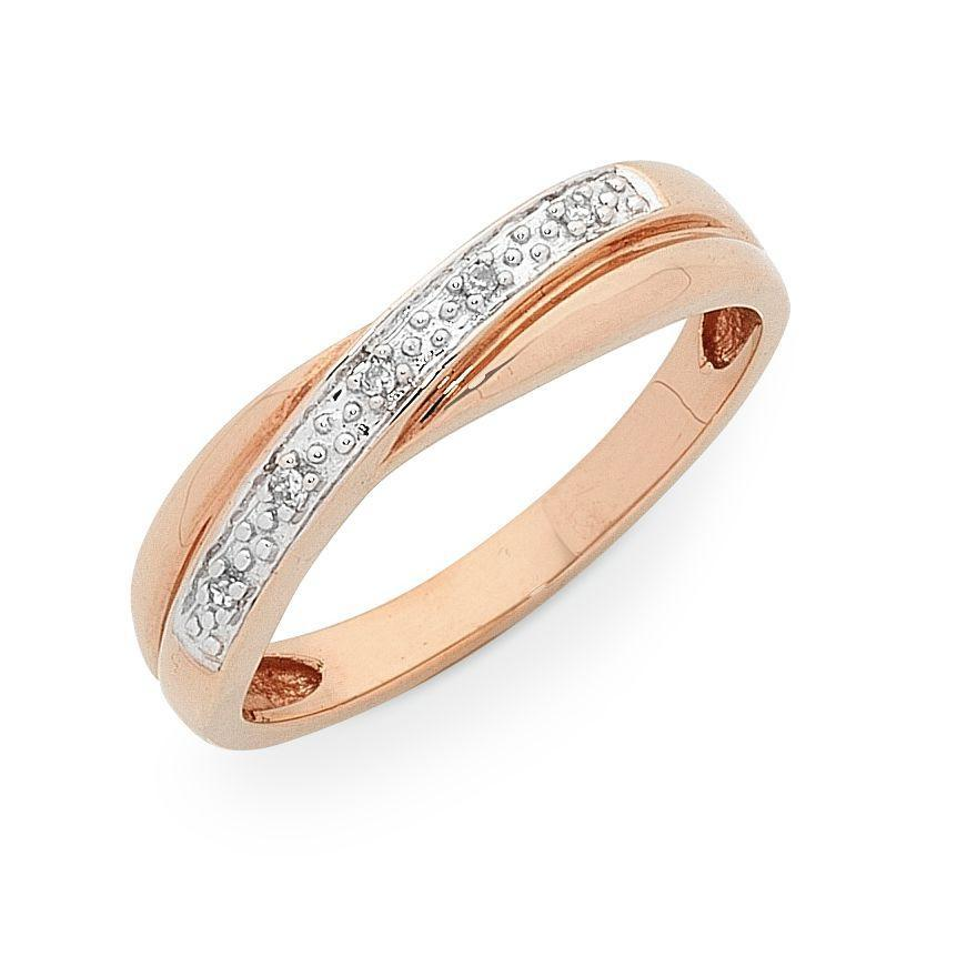 9ct Rose Gold Diamond Set Ring