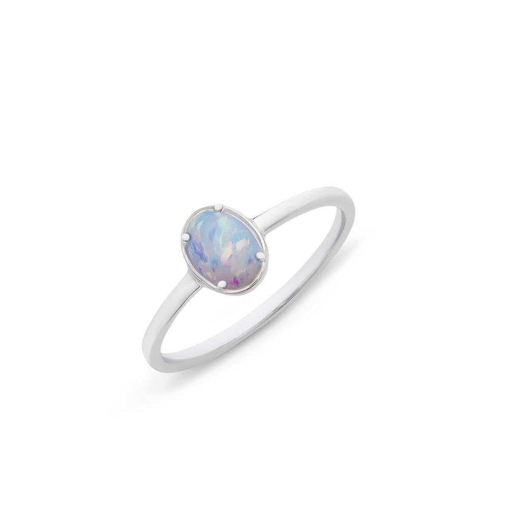 Sterling Silver Cr Opal Ring M2953