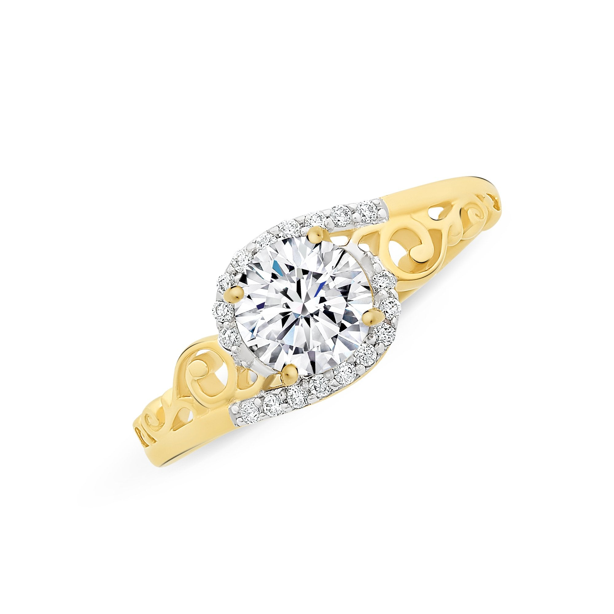 9ct Yellow Gold Cubiz Zirconia (CZ) Ring M3002