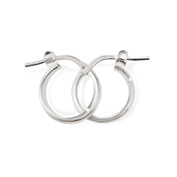 Sterling Silver 10mm Half-Round Hoops