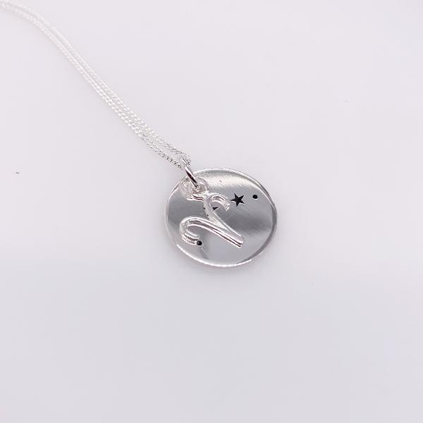 Sterling Silver Aries pendant with chain