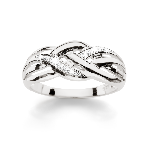 Sterling Silver Diamond Band