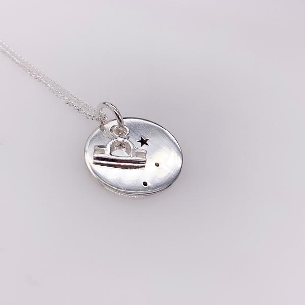 Sterling Silver Libra pendant with chain