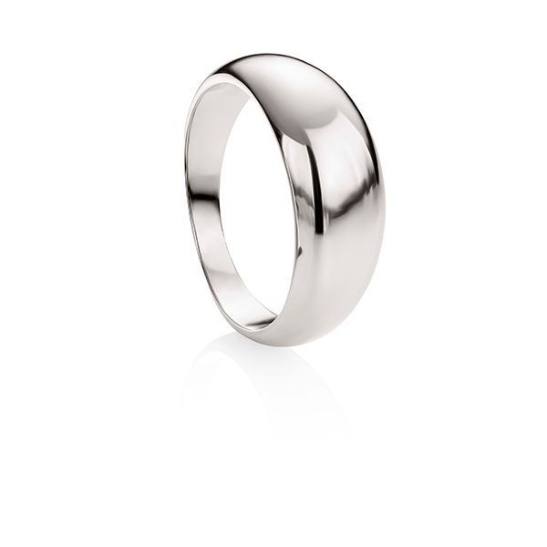 Sterling Silver Polished Dome Ring